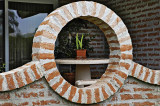 Round brick window