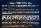Wall Street Mill plaque