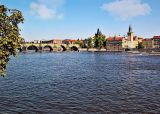 Charles bridge and river