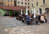 Outdoor dining in Regensburg