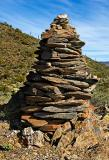 Large cairn on the Overton trail
