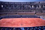 Tennis at a Roman colosseum, Nîmes
