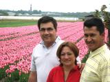 Hodero and inlaws at the tulipfields