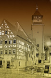 German Fachwerk in cartoonized pictures