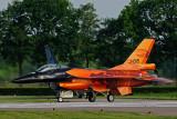 Demo F-16 vertrekt voor een open dag