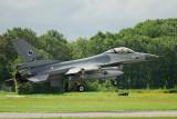 QRA F-16 in de landing