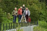 Spotters op de spottersheuvel