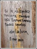 Graffitti on Neruda's Fence