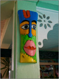 A Colorful Wall Decoration at the Qualibou Restaurant