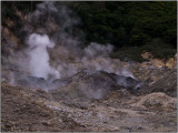 Sulfurous Steam Rising from the Volcano