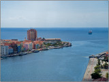 A Ship Approaches Willemstad, Curacao