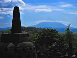 Gunung Merapi from Borobudur