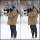 Donna Shooting in the Snow