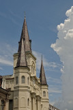 great clouds at Jackson Square