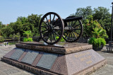 cannon overlooking Jackson Square