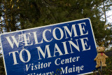 A welcoming sign to Maine