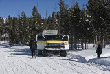 The snow coaches we used with the half track wheels