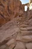 Mont Sinaï, escaliers vers le monastère