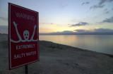 Panneau, mer morte