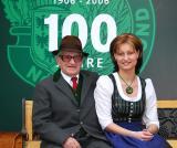 Franz Hofstetter (100) und Sandra Rodler (25) - Historischer Ernteumzug, Wiener Neustadt 2006