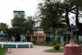 Vista del Parque y Edificio de la Municipalidad al Fondo