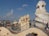 sur les toits de la Casa Milla :  On the roof