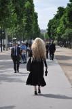 Long Blonde Hair Walking