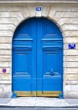 Freshly Painted Blue Door