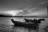 Sunset at Danshui B&W (2)