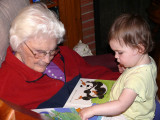 Reading to G'Mom