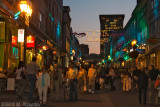 Crowds on Rue St-Jean at Night