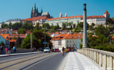 Prague Castle from Manesuv Bridge