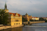 Vltava Left Bank At Sunset