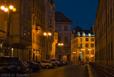 Prague Streets at Night