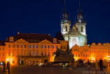 Prague Old Town Sqaure at Night
