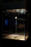 Vitrine met Neanderthaler schedelfragment