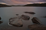 Boulders in a lake