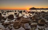 Rocks on the beach. - Criccieth