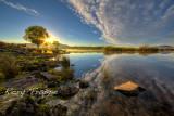 Llyn Trawsfynydd - into the sun