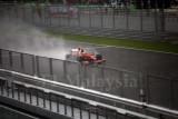 Kimi Raikkonen in the rain