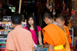 Shoppers at the Golden Triangle, Laos