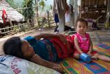 Karen village, afternoon rest