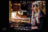 Akha hill tribe woman, Chiang Mai Thailand