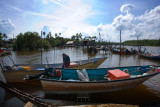 Boats at Kampung Balok fishing village