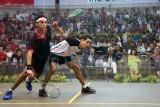 Men's final: Tarek Momen upset Mohamed El Shorbagy.