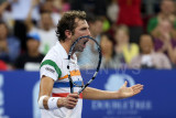 Julien Benneteau reacts to a point won