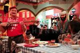 Uyghurs performing in a restaurant in Beijing