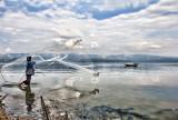 Fishing in Lake Singkarak, Sumatera, Indonesia
