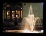 A downtown fountain