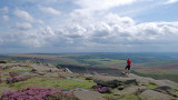 Burbage valley with big skies